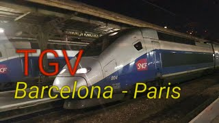 TGV Barcelona to Paris | Renfe SNCF Interrail First Class DOUBLE DECK High Speed Train Experience
