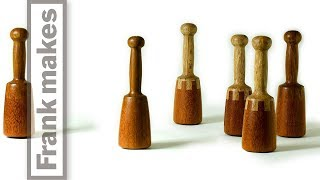 Wood Turned Carvers Mallets