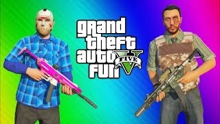GTA 5 Online Funny Moments Gameplay - Arm Wrestling, Helicopter Trolling, Bank Escape, (Multiplayer)