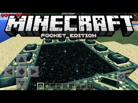 How To Make An END PORTAL (Minecraft PE) - Minecraft Pocket Edition / Windows 10 Edition 1.0