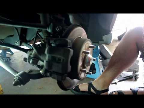 2002 honda accord brake pads replacement (fix repair remove replace)
