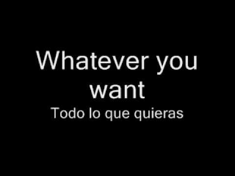 whatever you want- letra en español