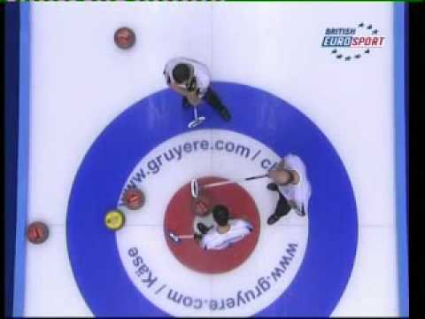 European Curling 08 Final Men Last 2 shots 10th end.avi
