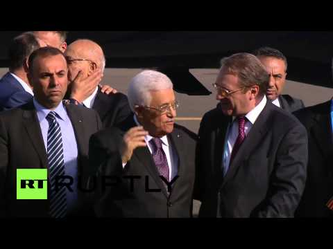 Russia: Palestinian leader Mahmoud Abbas arrives for Victory Day parade