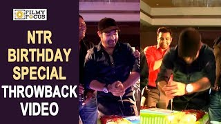 NTR Hilarious Cake Cutting : Birthday Special Throwback : Rare Video