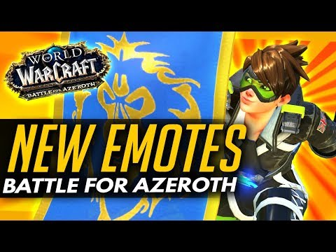 Overwatch | NEW TRACER EMOTES + TORB VOICELINES - WoW Battle for Azeroth Goodies