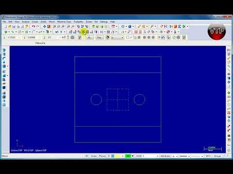 MASTERCAM X1-X7 MILL Tutorial in HD - 1.1 Rectangle, Circle, Parallel, Mirror - vtpros.net