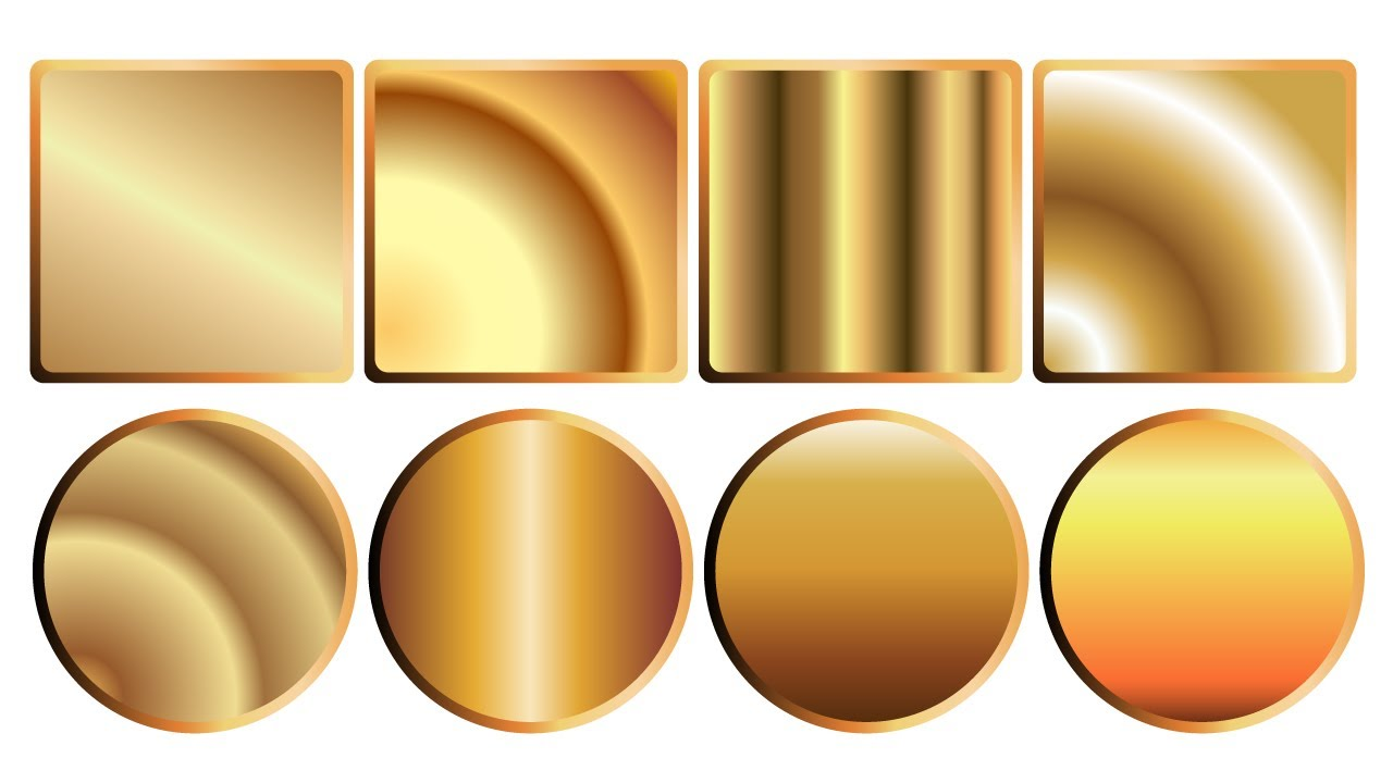 Draw a Golden Gradient in