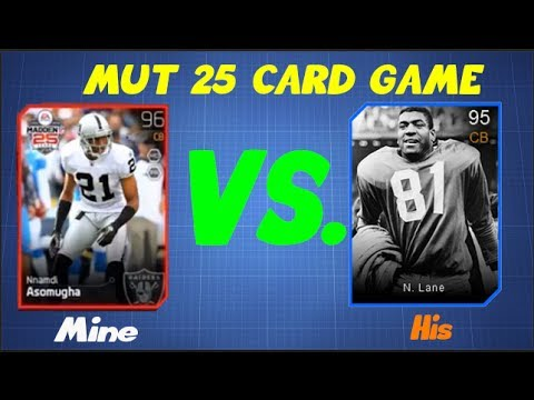 Madden 25 Ultimate Team - CARD GAME FOR NIGHT TRAIN LANE- BLOWN LEAD?  BEST FINISH!