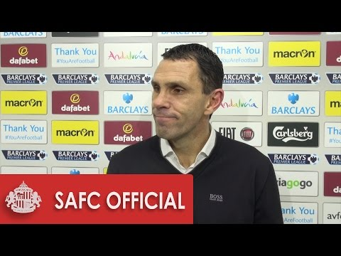 Gus Poyet's reaction after draw with Villa