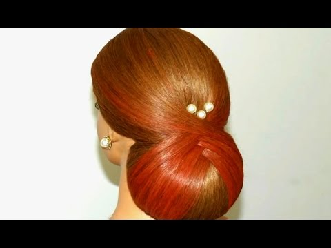 Bridal updo. Hairstyles for long medium hair.