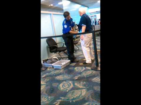 TSA feeling up old guy at Ft. Lauderdale Airport