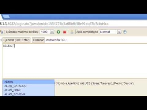 Tutorial Base de Datos H2 incrustada a una aplicacion JAVA [Eclipse]