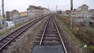 Brno - Choceň / POHLED NA TRAŤ Z ČELA SOUPRAVY/ HD KVALITA