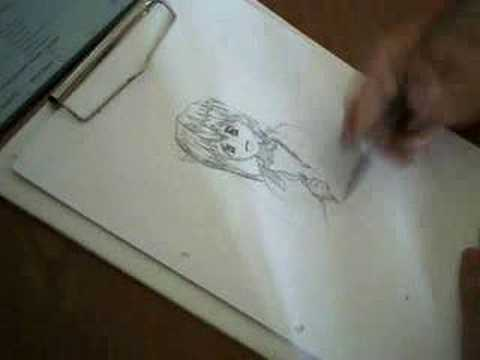 anime: Nyuu Elfen lied drawing - old man's child. Dragonfire