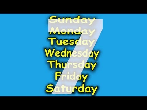 Days Of The Week Song - 7 Days Of The Week - Children's Songs By The Learning Station video