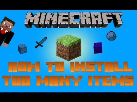 Minecraft How To Install Too Many Items 1.5