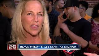 Best Buy store in Brandon draws a crowd hours after it opened on Thanksgiving night