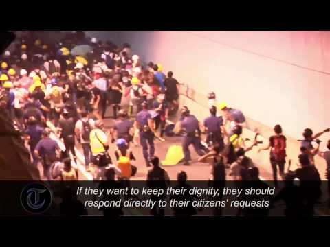 Hong Kong protesters clash with police as violence flares
