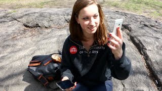 Samsung Galaxy S4 versus HTC One in Central Park