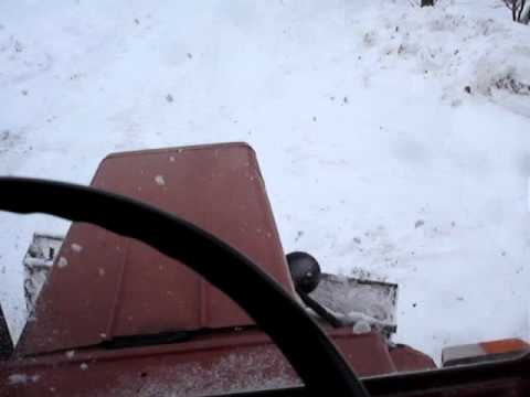 Snow plow 2011, уборка снега с трактор т-25, Odśnieżanie władimircem