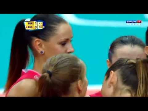 RÚSSIA X BRASIL - Mundial de Vôlei Feminino 2014 - 2ª FASE