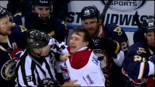 Emelin hit on Stastny  01/16/16