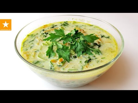 Очень вкусный суп из шпината и чечевицы. Молниеносный рецепт от Мармеладной Лисицы