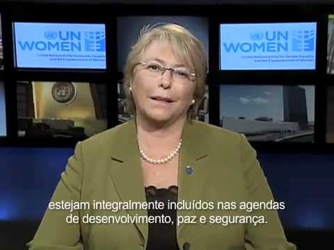 UN Women Executive Ms. Bachelet on International Women's Day (Portuguese Subtitles)