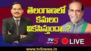 Live Show With BJP Telangana President Laxman | Top Story Live With Sambasiva Rao