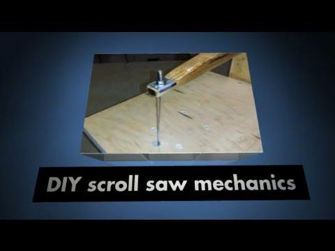 DIY scroll saw mechanics