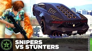 Let's Play - GTA V - Snipers Vs Stunters