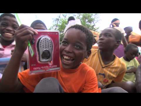 Operation Christmas Child - Zimbabwe Boy with a Radio