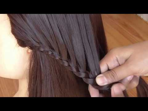Waterfall Hairstyle Step by Step || Easy Hairstyle For Party