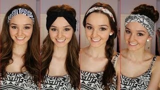 Four Ways to Wear a Headband /Headwrap ♡ | thekelliworldtv