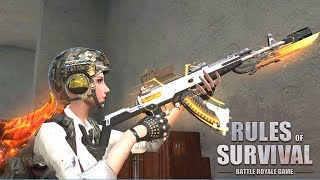 USING THE NEW AKM SINGULARITY SKIN FOR THE FIRST TIME IN RULES OF SURVIVAL!