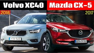2018 Volvo XC40 vs 2017 Mazda CX-5 (technical comparison)