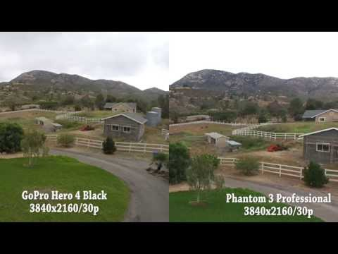 DJI Phantom 3 Pro vs GoPro Hero 4 Black Camera Test UHD 4k