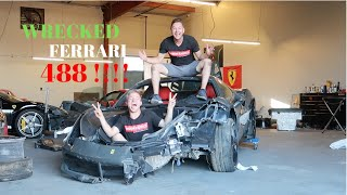 FERRARI 488 WRECKED !!!!!  FROM THE AUCTION