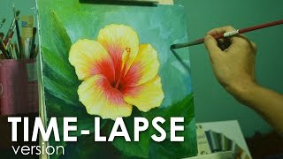 Time-lapse Acrylic Painting Demo - Gumamela Flower by JMLisondra