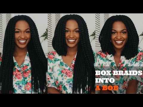 How to Cut Crochet Box Braids into A BOB