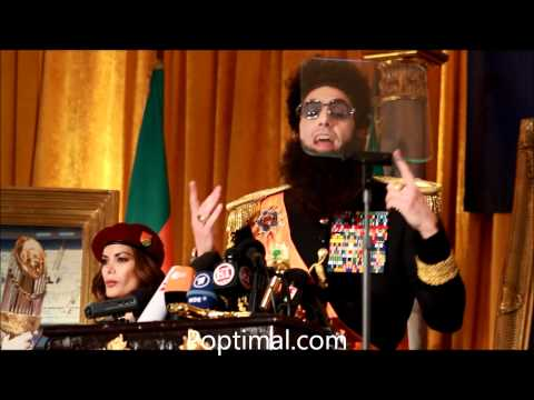The Dictator Junket - Admiral General Aladeen (Sacha Baron Cohen) Music Videos
