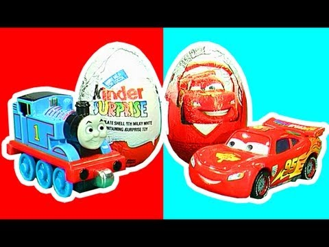 Surprise Eggs Crash Unwrapping Thomas & Percy Vs Lightning McQueen Cars LEOKIMVIDEO