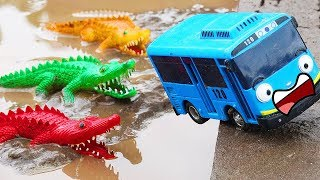 Hulk Rescue Tayo Bus From Crocodile Car Toys Video For Children | Cars and Toys