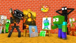 MONSTER SCHOOL : FUNNY DRAWING CHALLENGE - MINECRAFT ANIMATION