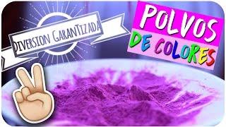 DIY ¿Cómo hacer polvos de colores? - POLVOS HOLI PARA JUGAR | Kika Nieto