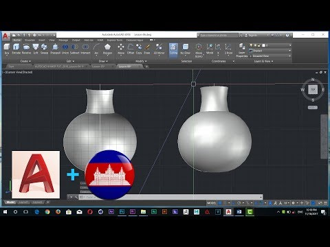 AUTOCAD 3D KHMER TUTORIAL | How to Use  Revolve  in Auto CAD 2018 | Lesson 06