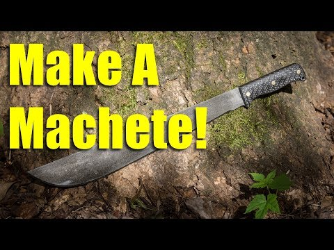 Making a Machete with a Carbon Fiber Handle
