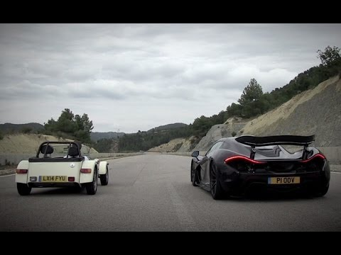 McLaren P1 vs Caterham 160R — Speed Week 2014: Top Gear Magazine