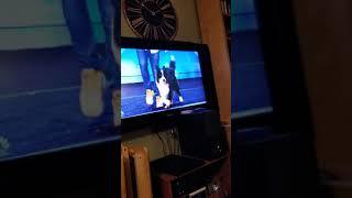 Izzy watching America's Got Talent